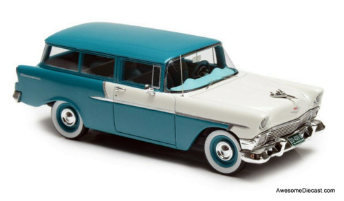 Esval Models 1:43 1956 Chevrolet 150 Handyman 2 Door Station Wagon, Turquoise/White