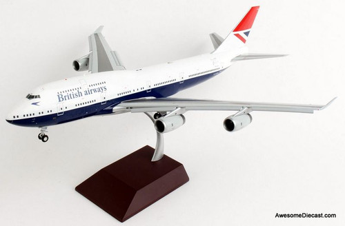 "Gemini 200 1:200 Boeing 747-400: British Airways ""Negus"" Flaps Down, 100th Anniversary"