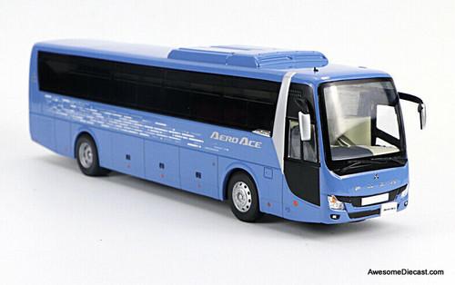 Fuso 1:43 2019 Mitsubishi Fuso Aero Ace Sight Seeing Bus, Blue