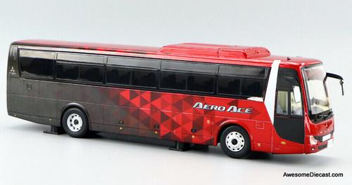 Fuso 1:43 2019 Mitsubishi Fuso Aero Ace Sight Seeing Bus, Red