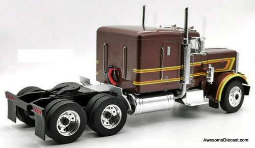 Road Kings 1:18 1967 Peterbilt 359 Tractor Metallic Brown