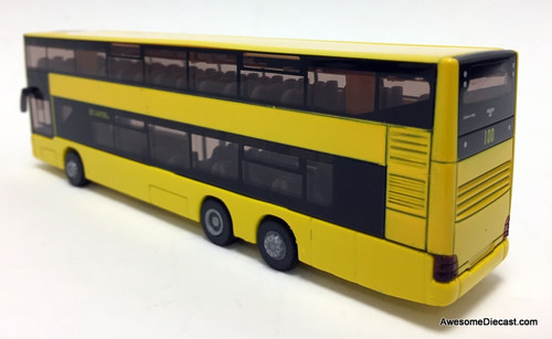 SIKU 1:87 MAN Double Decker Bus: Berlin / Destination: Zoological Gardens