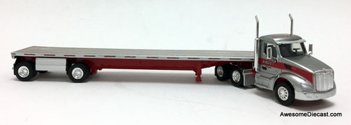 TNS 1:87 Peterbilt 579 DC w/Flatbed Trailer: Gigli Transport