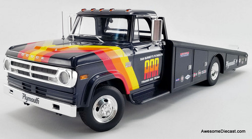 Acme 1:18 1970 Dodge D-300 Ramp Truck: Dan Gurney's  AAA Cuda Trans-Am