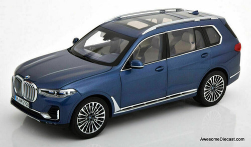 Kyosho 1:18 2020 BMW X7 SUV, Metallic Blue