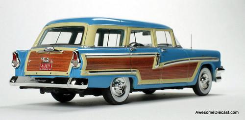 Goldvarg Collection 1:43 1956 Mercury Monterey Wagon, Lauderdale Blue