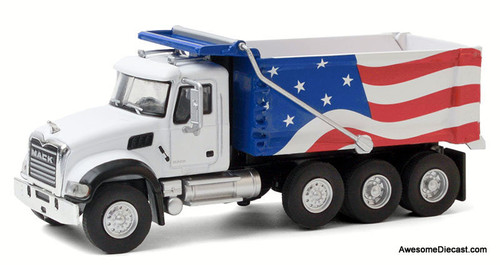 Greenlight 1:64 2019 Mack Granite Dump Truck: Stars & Stripes