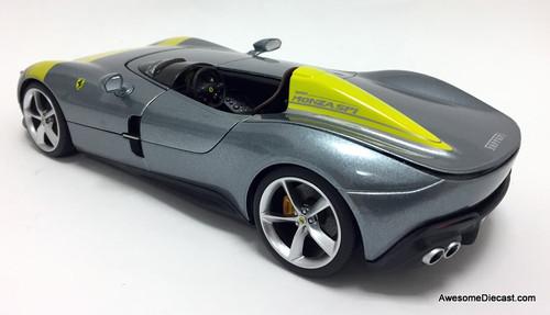Burago 1:18 2019 Ferrari Monza SP1, Metallic Gray