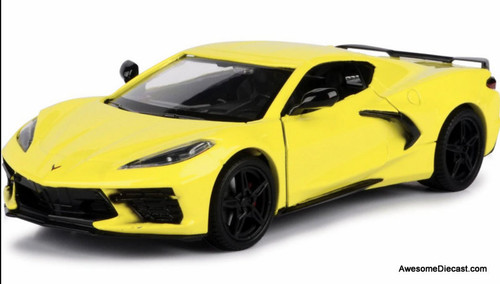 Motor Max 1:24 2020 Chevrolet Corvette C8, Yellow