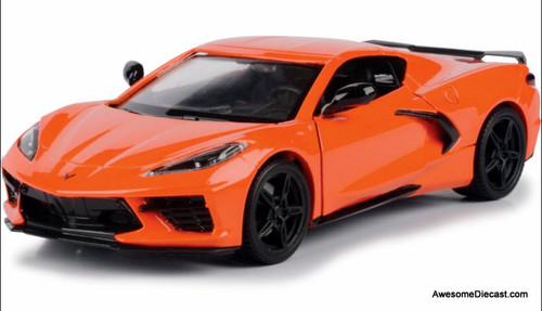 Motor Max 1:24 2020 Chevrolet Corvette C8, Orange