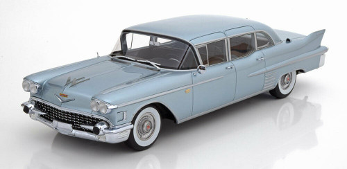BoS 1:18 1958 Cadillac Fleetwood 75 Limousine Light Blue Metallic