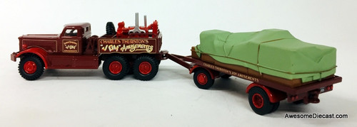 Oxford 1:76 Diamond T Generator Truck & Flatbed Trailer: Charles Thurston's Joy Amusements