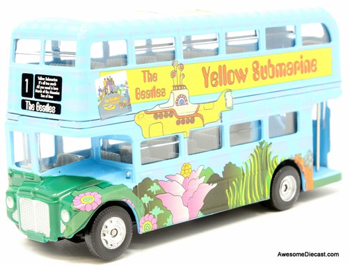 Corgi 1:64 AEC Routemaster Double Decker Bus: The Beatles, Yellow Submarine