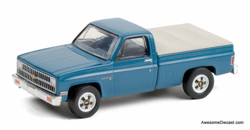 Greenlight 1:64 1981 Chevrolet C20 Custom Deluxe, Blue