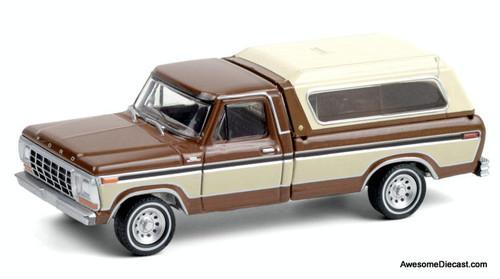 Greenlight 1:64 1979 Ford F-150, Metallic Brown/Cream