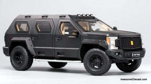 Keng Fai 1:18 U.S Specialty Vehicles G.Patton SUV, Matt Black
