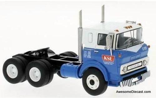 Neo 1:64 1964 GMC COE Sleeper, Blue/White: KSE Transport Company