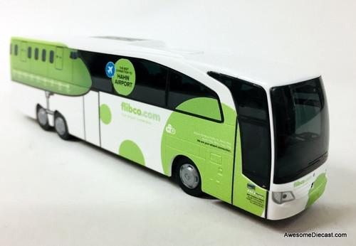 Rietze 1:87 Mercedes Benz Travego M Shuttle Bus: Hahn Airport, Germany