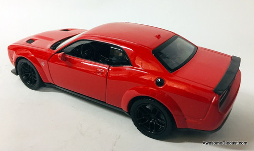 Motor Max 1:24 2018 Dodge Challenger SRT Hellcat Widebody, Red
