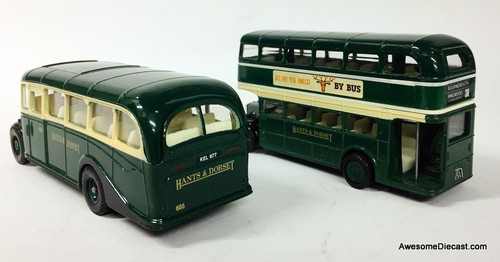 Corgi: Bedford OB Coach & AEC Regent Double Decker Set: Hants & Dorset