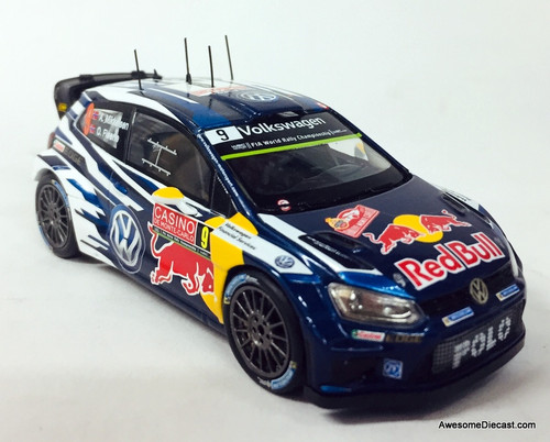 Spark 1:43 Volkswagen Polo R WRC Rally Car: Red Bull Racing