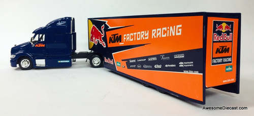 New Ray 1:43 Peterbilt 387 Sleeper w/Trailer: KTM Factory Racing, Red Bull