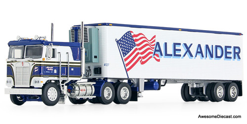 DCP by FG 1:64 KW K100 COE Flat Top & 40' Vintage Reefer Trailer: Alexander Trucking