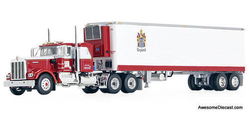 "DCP by FG 1:64 KW W900A w/ 36"" Sleeper & 40' Vintage Reefer Trailer"" CR England"