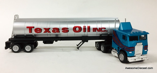 Con-Cor 1:87 Freightliner COE Sleeper Cab w/40' Elliptical Tanker: Texas Oils Inc