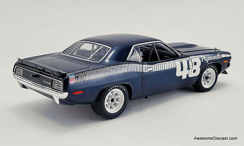 ACME 1:18 1970 Plymouth Trans Am Barracuda: Dan Gurney Test Car #48