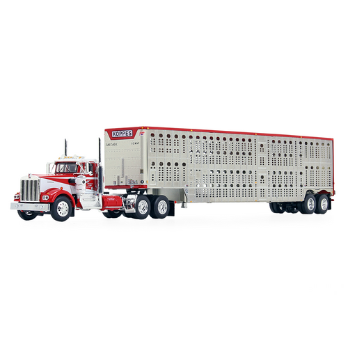 DCP by FG Kenworth W900A Day Cab & Wilson Silverstar Livestock Trailer: Koppes Trucking