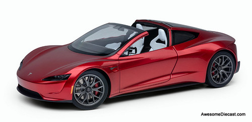 Tesla 1:18 2021 Tesla Roadster, Red