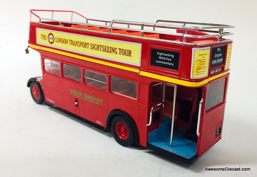 IXO 1:43 AEC Regent Routemaster Open Top Bus: London Transport Sightseeing Tours