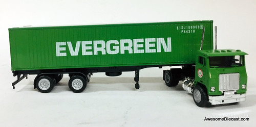 Con-Cor 1:87 Freightliner Tractor w/Trailer And 40' Dry Goods Sea Container