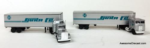 Con-Cor 1:160 (N Scale) Tractor w/ Trailer Set: Santa Fe Transport