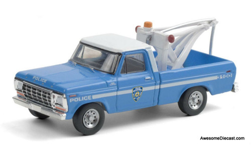 Greenlight 1:64 1979 Ford F-250 Tow Truck: NYPD