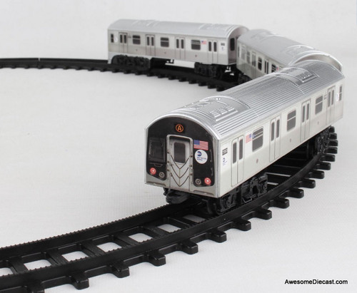 DWWT MTA Motorized 3 Piece New York Subway Train Set w/Track