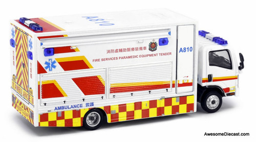Tiny 1:76 Isuzu N-Series Paramedic Equipment Truck: Hong Kong Fire Service