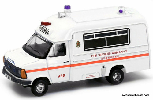 Tiny 1:76 1980 Ford Transit Ambulance: Hong Kong Fire Service