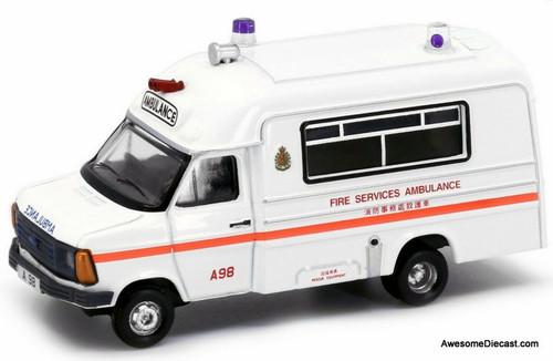 Tiny 1:76 1980 Ford Transit Ambulance: Hong Kong Fire Service