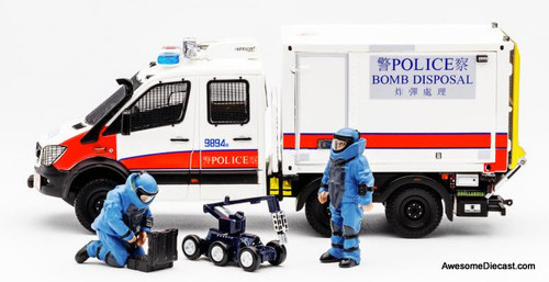 Aurora 1:43 Mercedes Bomb Squad Unit w/ Figurines: Hong Kong Police Services