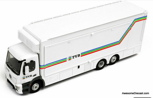 Tiny 1:76 Mercedes-Benz Antos: TVB Mobile Broadcast Truck