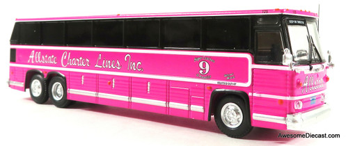 Iconic Replicas 1:87 MCI MC-9 Crusader Coach: Allstate Charter Lines - Big Pink