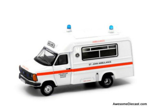 Tiny 1:76 1980 Ford Transit: UK St Johns Ambulance