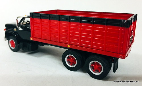 First Gear 1:64 Chevy C65 Tandem Axle Grain Truck: Black/Red