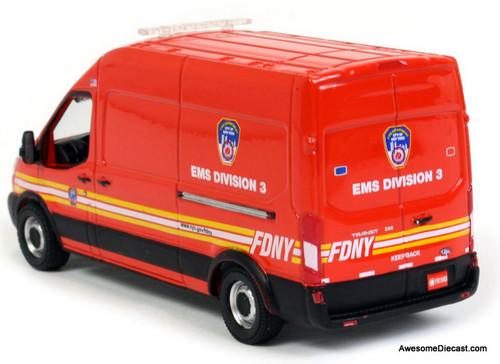 Greenlight 1:64 2019 Ford Transit: FDNY EMS Division 3