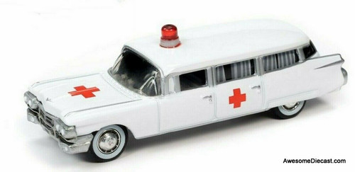 Johnny Lightning 1:64 1959 Cadillac Ambulance, White