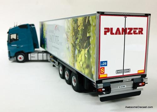 Eligor 1:43 2016 Volvo FH4 500 Tractor w/Reefer Trailer: Planzer Transport