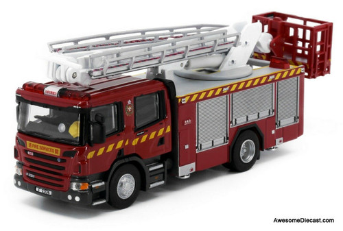 Tiny 1:76 Scania Hydraulic Platform: Hong Kong Fire Service Department