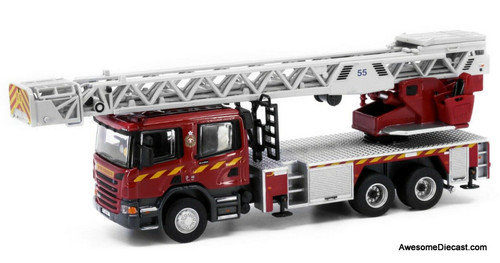 Tiny 1:76 Scania Turntable Ladder 55M: Hong Kong Fire Service Department